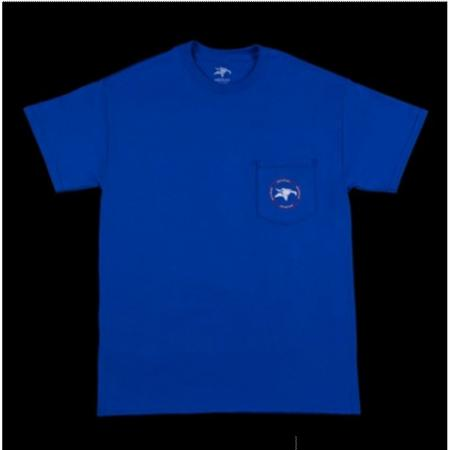 T-Shirts Animal Emblem Pocket Blue M