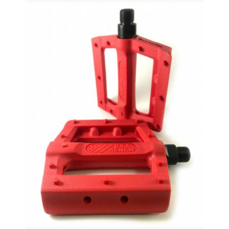 KENCH Slim nylon PC red pedals