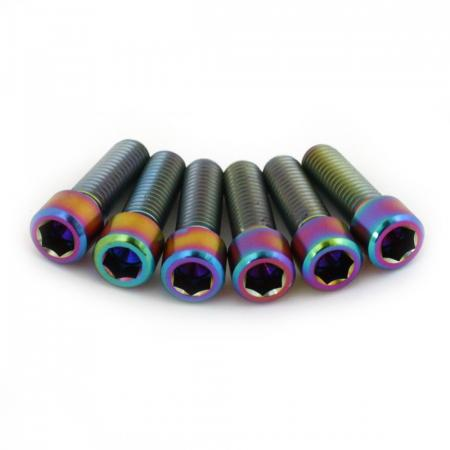 Armour Bikes Ti oil slick Oil Slick М8х25 mm 6pcs. Bolts for Stem