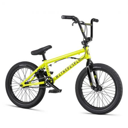 WeThePeople CRS FS 18 2020 18 metallic yellow BMX bike