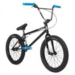 STOLEN HEIST 2020 21 black with blue and chrome BMX bike