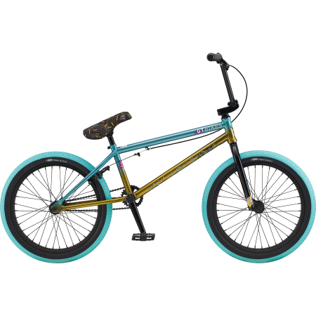 GT Mercado Team 2020 20.75 teal with gold BMX bike