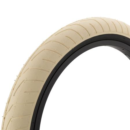 KINK Sever 2.4 cream with back wall BMX tire