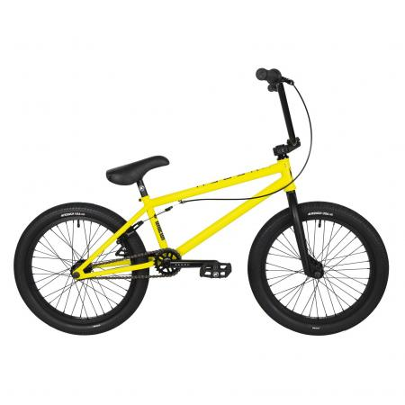 Kench Street CRO-MO 2021 21 yellow BMX bike